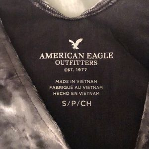 American Eagle Outfitters Tops - NWT American Eagle Gray Velvet Burnout Tank - SZ S